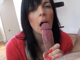 brunette blowjob couple