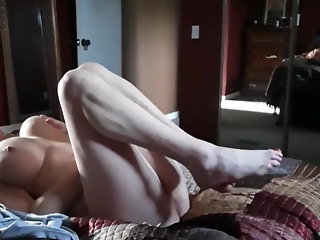 wife caught masturbating